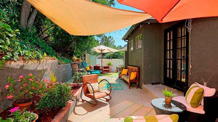 Задний двор дома Мисси Пайл в Калифорнии