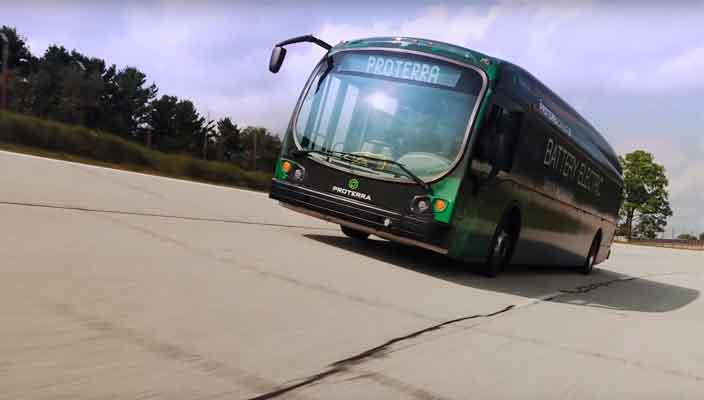 Электрический автобус Proterra проехал без подзарядки 1772 км