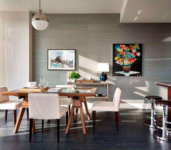Дизайн столовой в квартире Джона Бон Джови