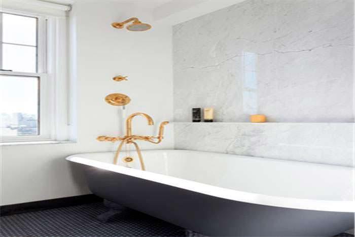 Дизайн ванной комнаты в квартире на Манхэттене