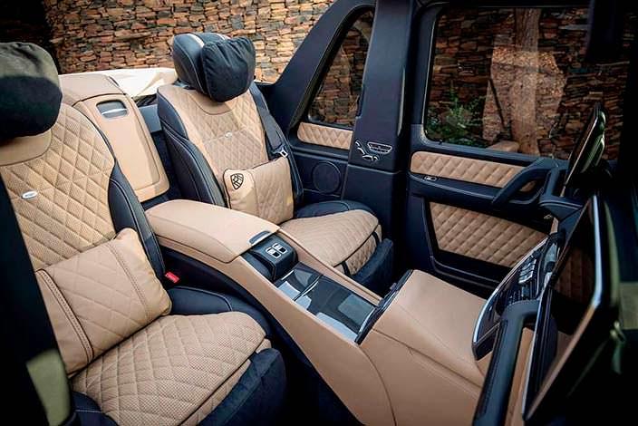 Кожаные сиденья с массажем Mercedes-Maybach G650 Landaulet