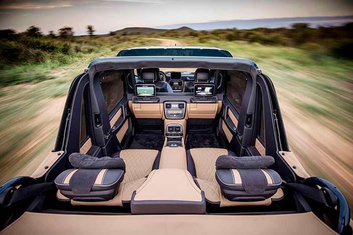 Элитный интерьер Mercedes-Maybach G650 Landaulet