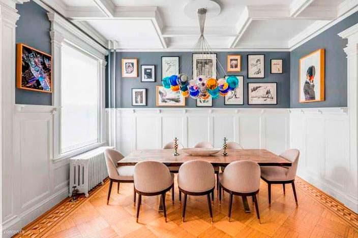 Дизайн столовой в доме Джона Красински и Эмили Блант