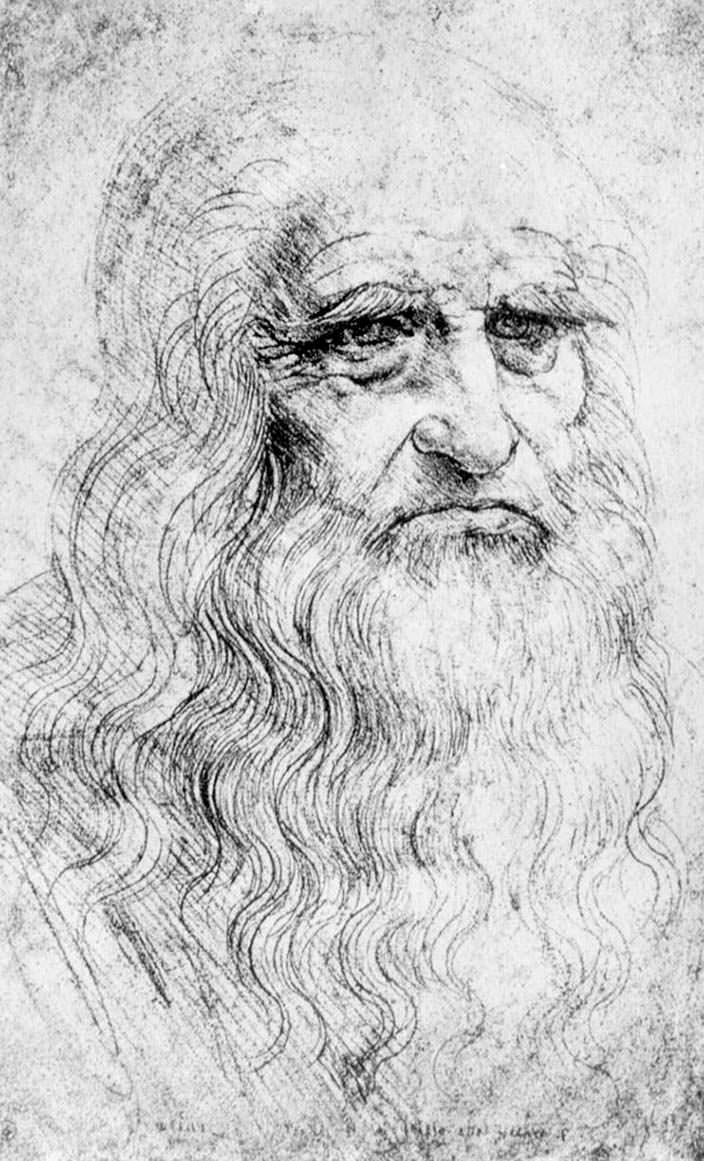 Автопортрет Леонардо да Винчи. 1452 - 1519 гг. жизни