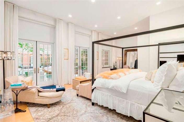 Спальня Дженнифер Лопес в пентхаусе на Манхэттене