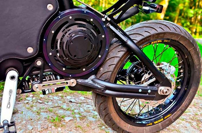 Педальный мотоцикл с электродвигателем The Gulas PI1S