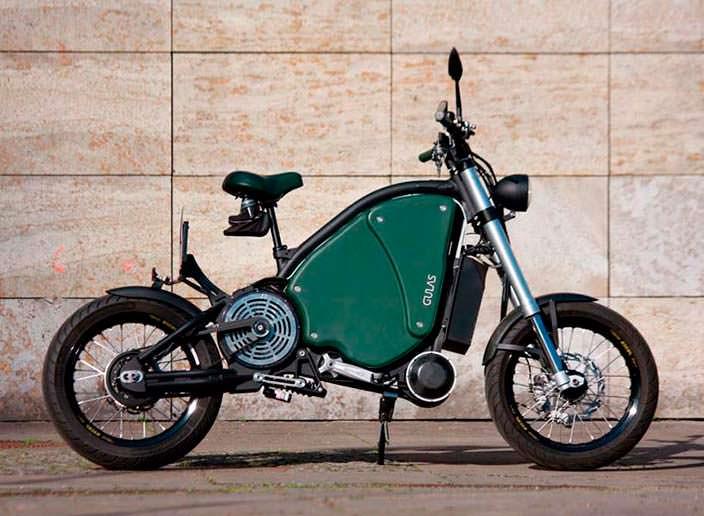 Педальный электромотоцикл The Gulas PI1S: запас хода 200 км
