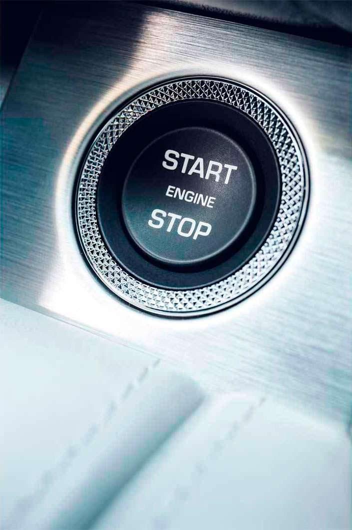 Кнопка запуска двигателя Start/Stop в Range Rover
