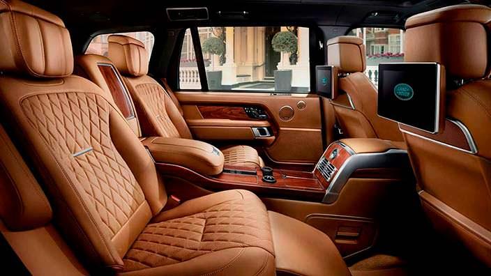 Фото   Кожаный салон Range Rover SAVutobiography 2018
