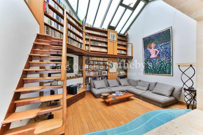 Частная библиотека в доме