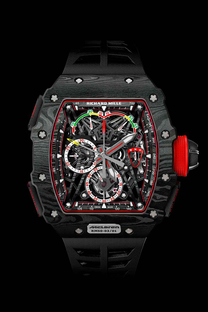 RM 50-03 Tourbillon Split Seconds Chronograph Ultralight McLaren F1
