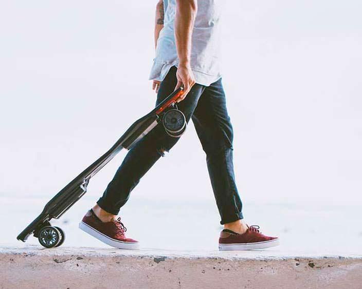Электрический скейтборд eBoard: батарея на 21 км