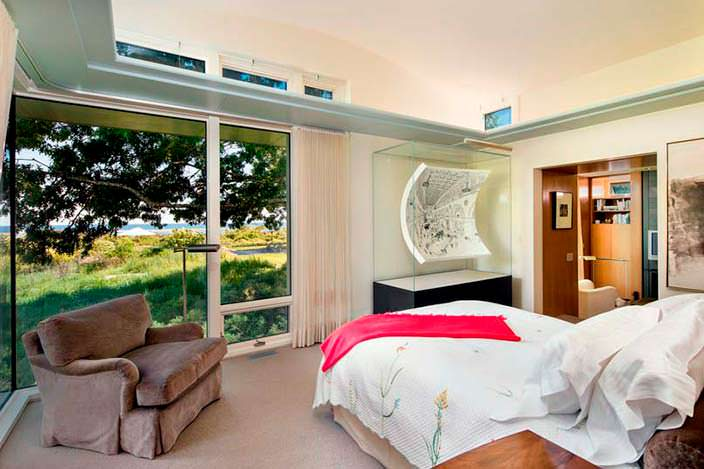 Спальня в летнем доме Барака Обамы 2013 года