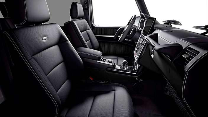 Чёрный кожаный салон Mercedes G500 Limited Edition