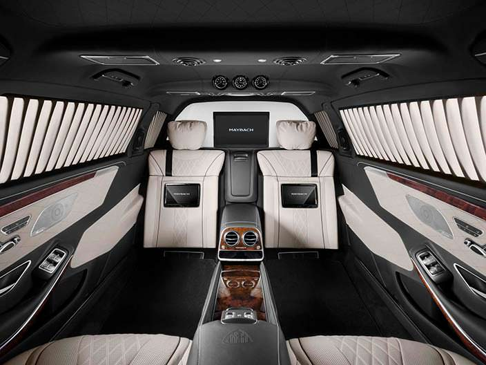 Интерьер Mercedes-Maybach Pullman S600