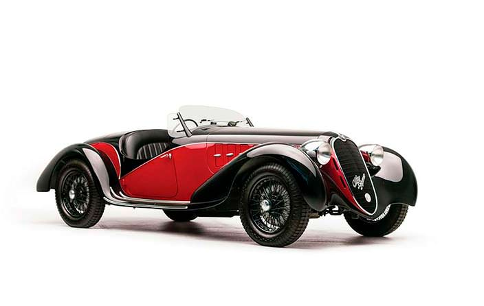 Ретро-кабриолет Alfa Romeo 6C 2500 SS Spider