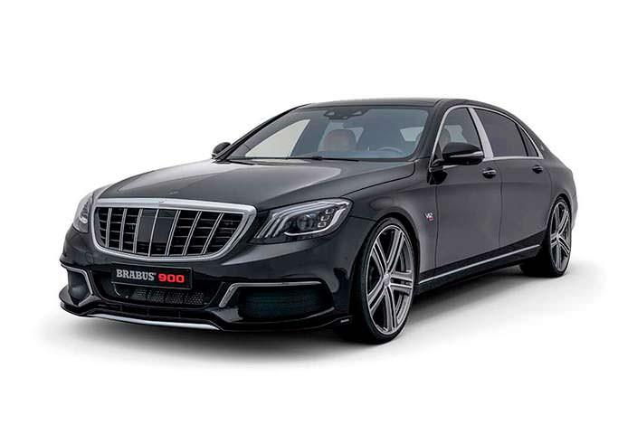 Чёрный Mercedes-Maybach S650. Тюнинг Brabus