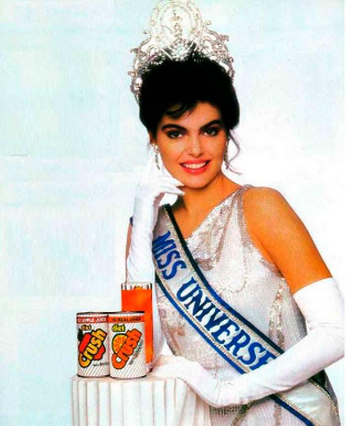 Напиток Crush и Мисс Вселенная 1986