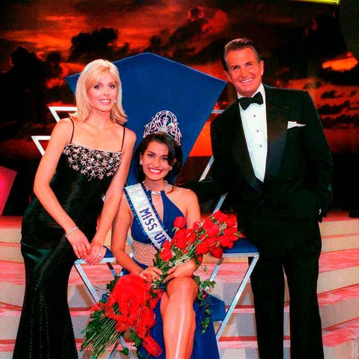 Мисс Вселенная 1997, ведущие Джордж Хэмилтон и Марла Мейплз