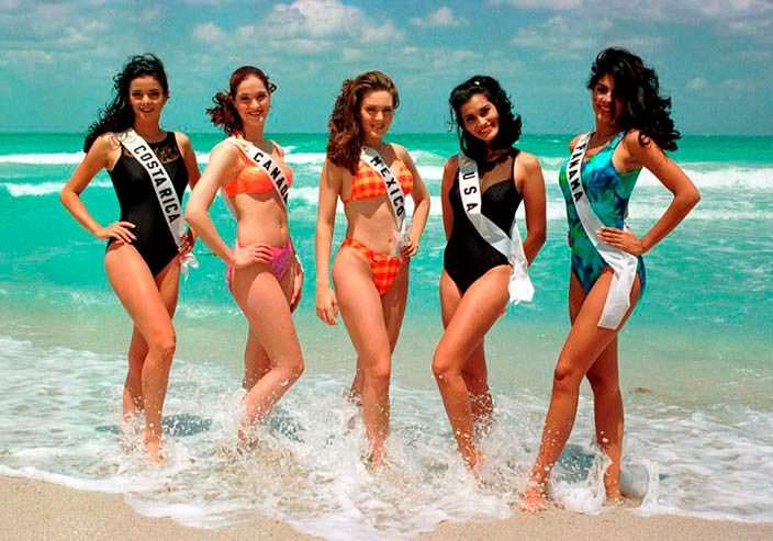 Фото | Участницы «Мисс Вселенная 1997» в купальниках