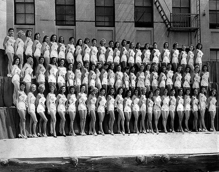 Все девушки-участницы конкурса «Мисс Вселенная 1956»