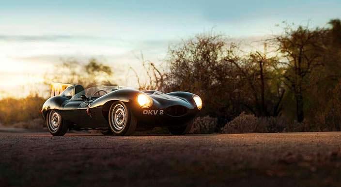 Jaguar D-Type. Участник Ле-Мана 1954 года