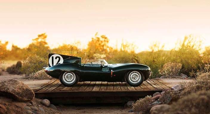 Участник Ле-Мана - гоночный Jaguar D-Type 1954 года выпуска