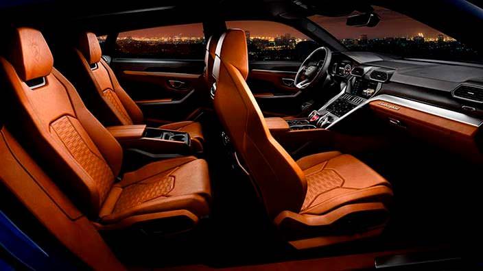 Интерьер Lamborghini Urus