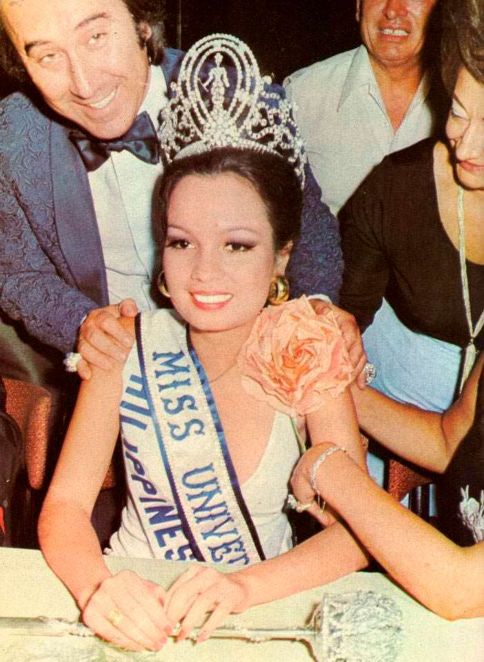 Мария Маргарита Моран - победительница Мисс Вселенная 1973