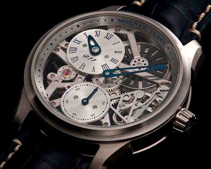 Мужские часы Molnar Fabry Time Machine Regulator 911