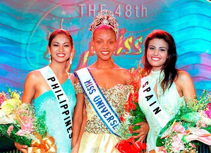 ТОП-3 конкурса «Мисс Вселенная 1999»