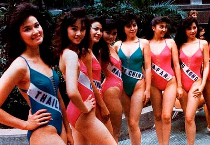 Фото участниц «Мисс Вселенная 1988» в купальниках