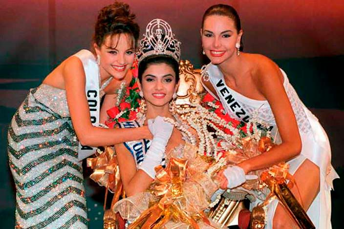 ТОП-3 конкурса «Мисс Вселенная 1994»