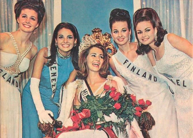 ТОП-5 «Мисс Вселенная 1967»