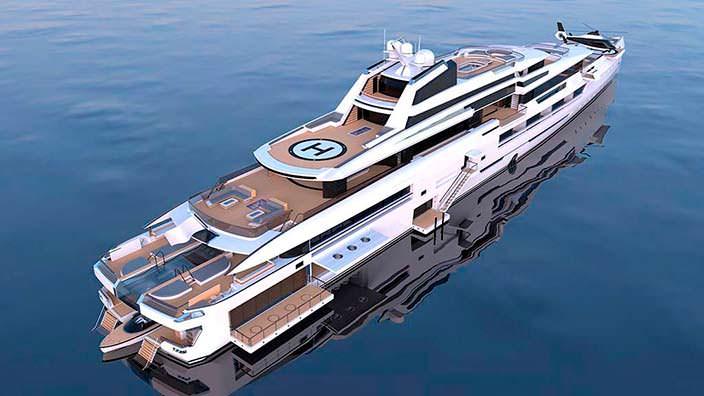 Ines: яхта двумя вертолетными площадками длиной 114 метров