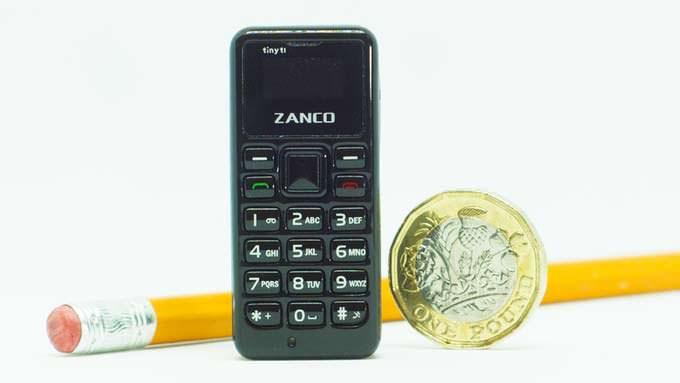 Zanco Tiny T1 - телефон самого маленького размера