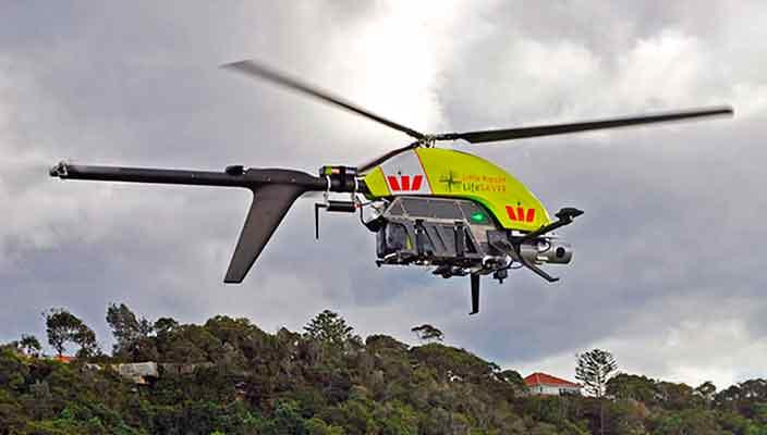 Дрон-спасатель спас первые две жизни в Австралии | видео