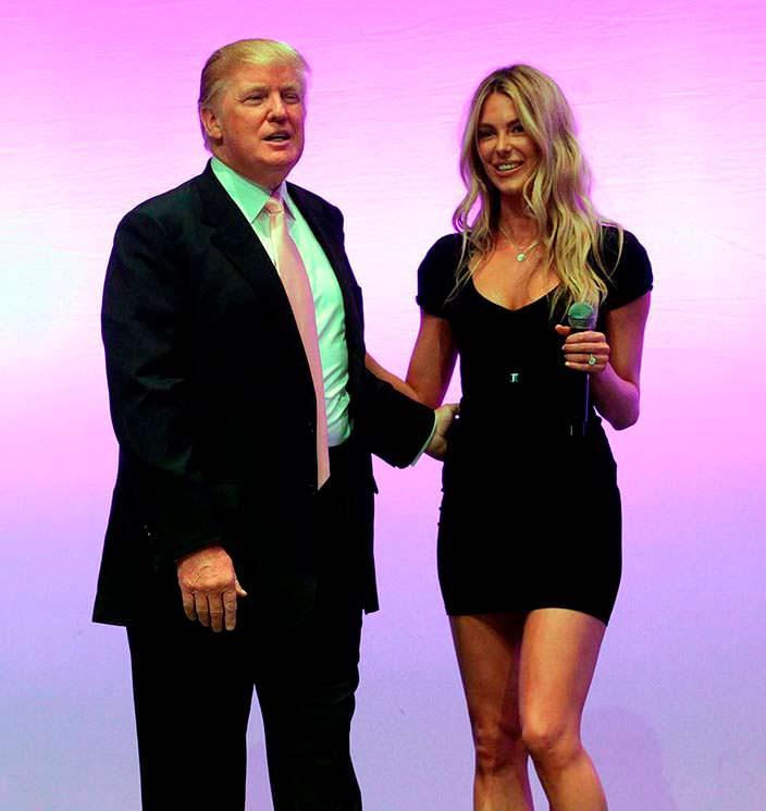 Дональд Трамп и «Мисс Вселенная 2004» Дженнифер Хоукинс