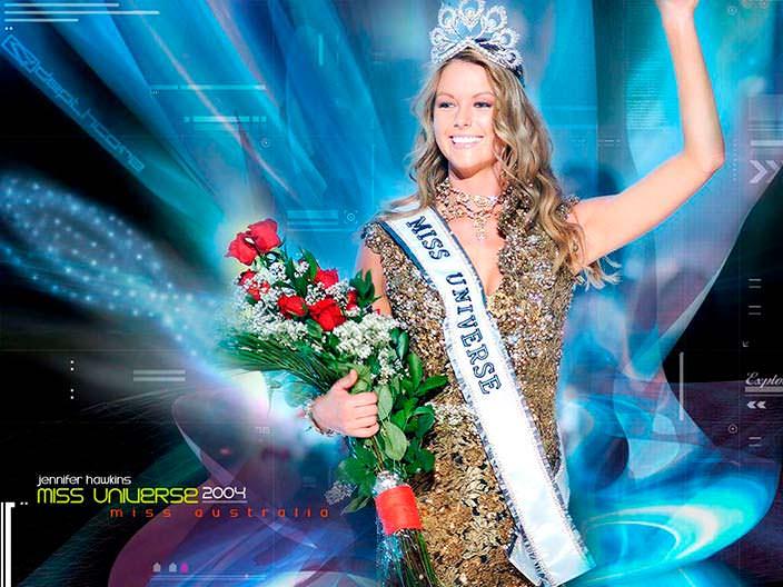 Австралийка «Мисс Вселенная 2004» Дженнифер Хоукинс