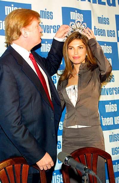 Дональд Трамп и «Мисс Вселенная 2002» Жюстин Пасек