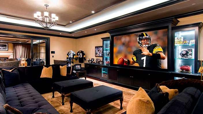 Комната для просмотра американского футбола