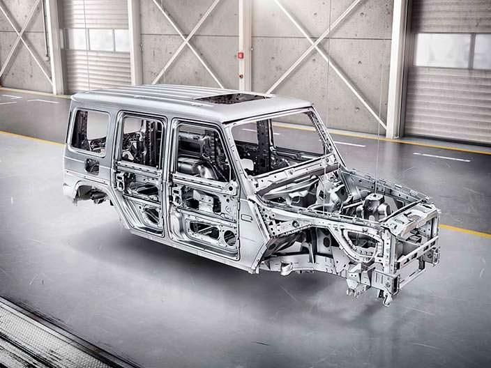 Алюминиевый кузов Mercedes-Benz G-Class 2019: на 170 кг легче
