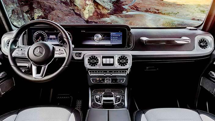 Салон Mercedes-Benz G-Class нового поколения
