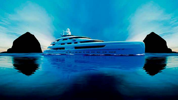 Яхта Pride Mega Yachts Illusion Plus. Длина 88,8-метра