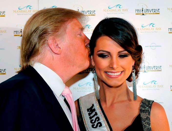 Дональд Трамп и «Мисс Вселенная 2009» Стефания Фернандес