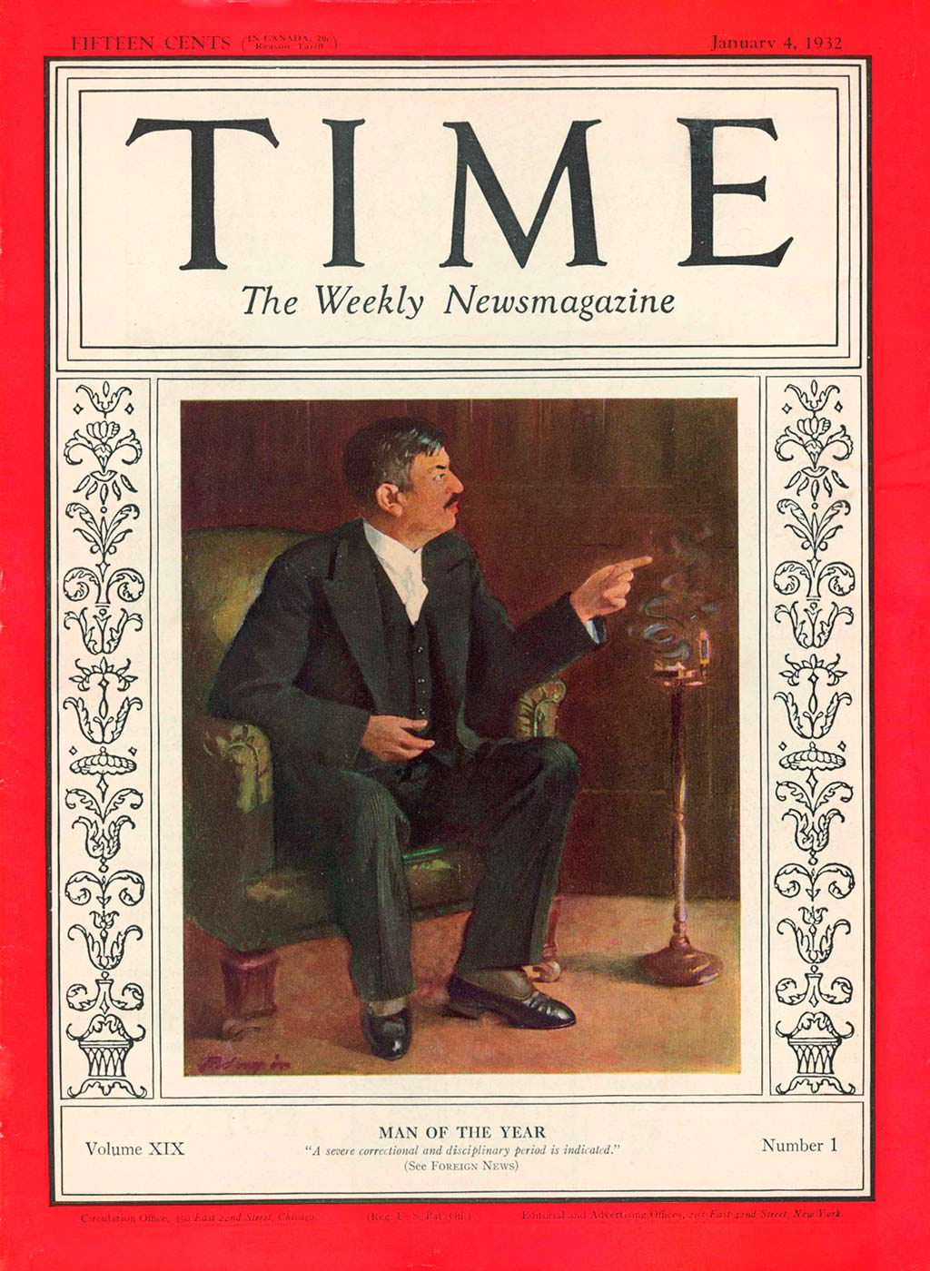 1931 год. Политик Пьер Лаваль на обложке Time