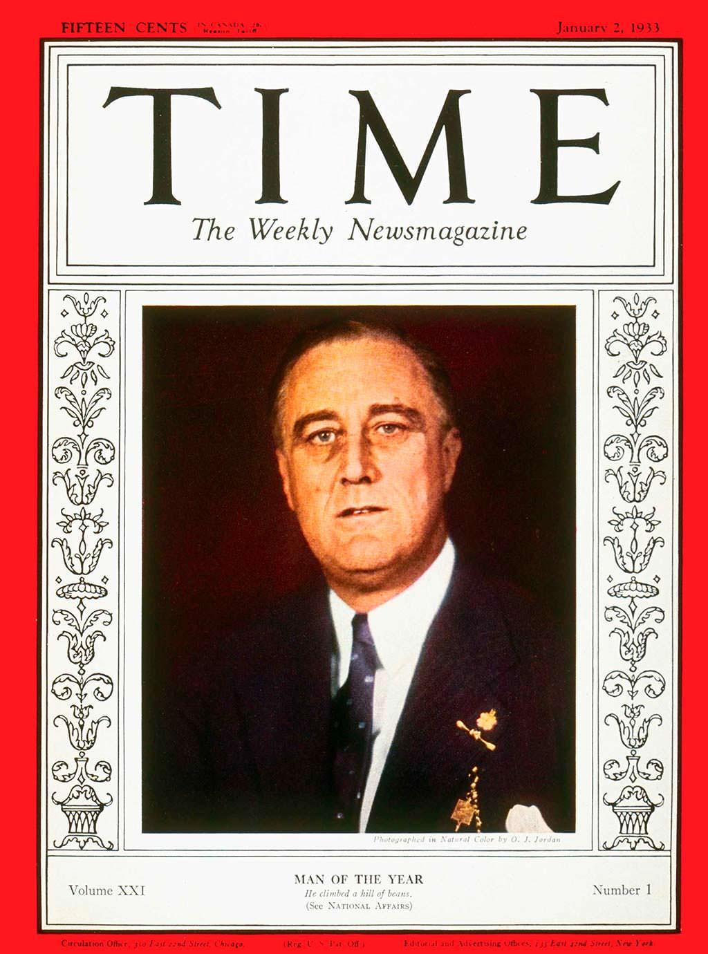 1932 год. Президент Франклин Рузвельт на обложке Time