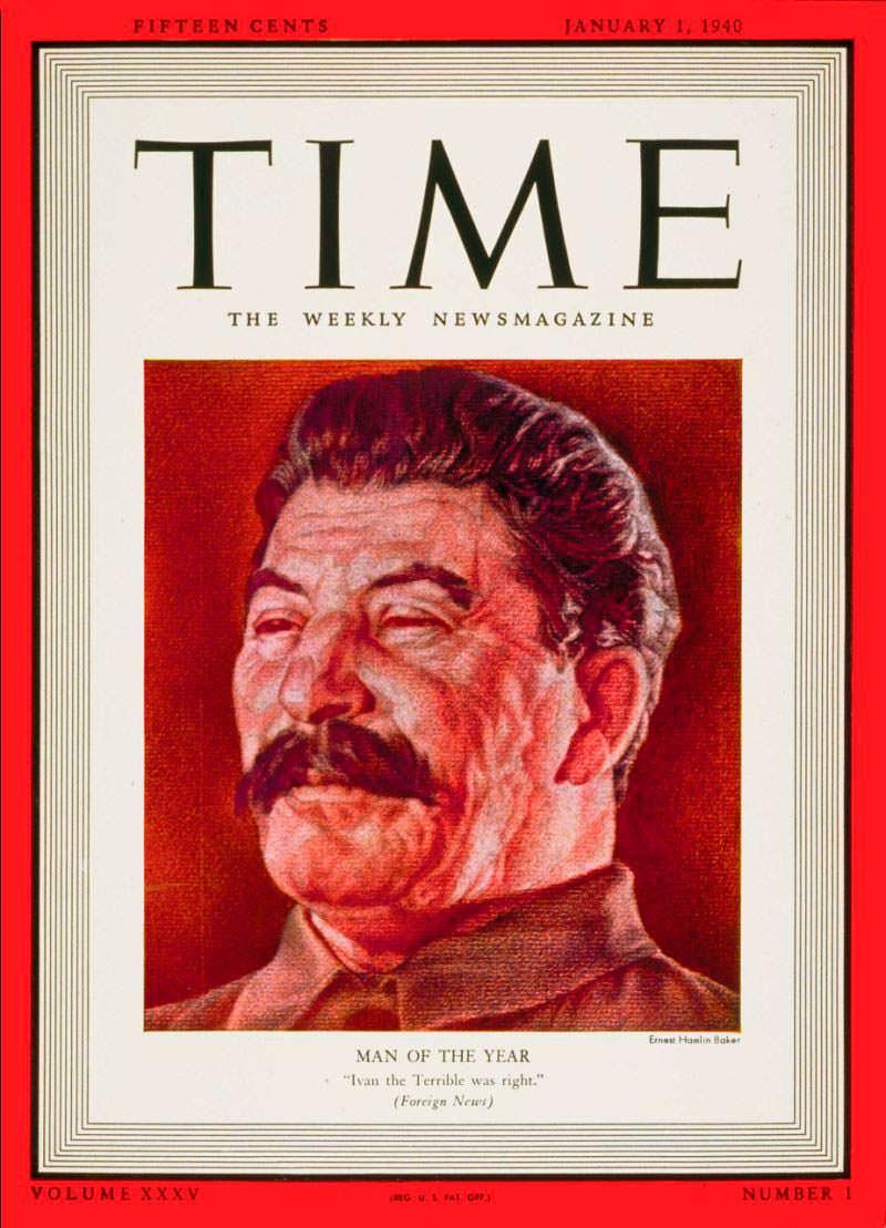 1939 год. Лидер СССР Иосиф Сталин на обложке Time