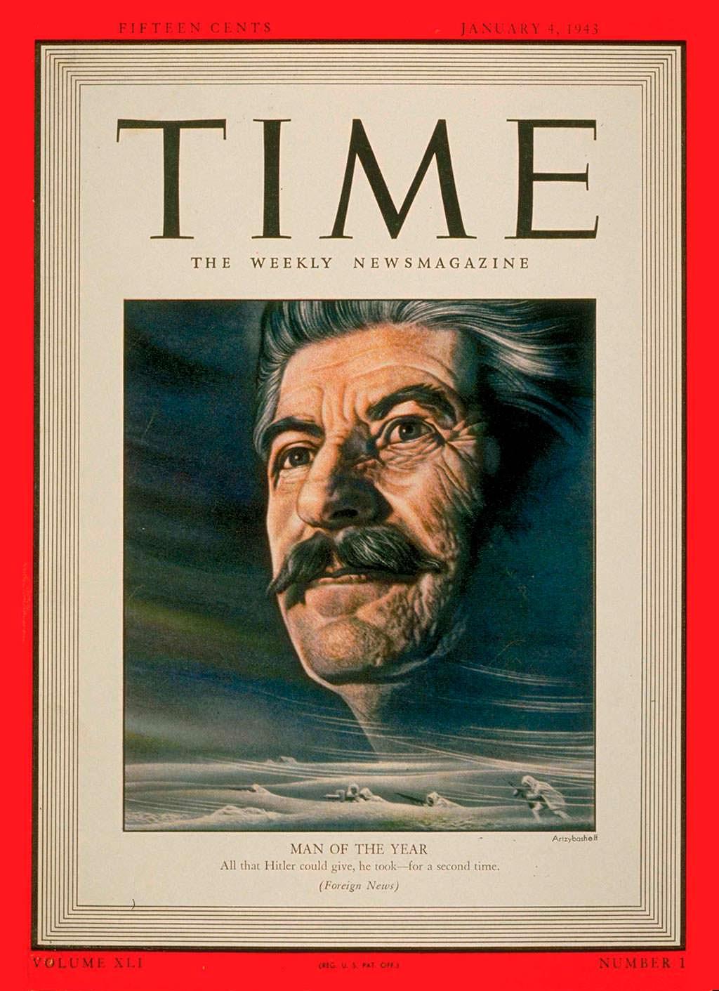 1942 год. Иосиф Виссарионович Сталин на обложке Time