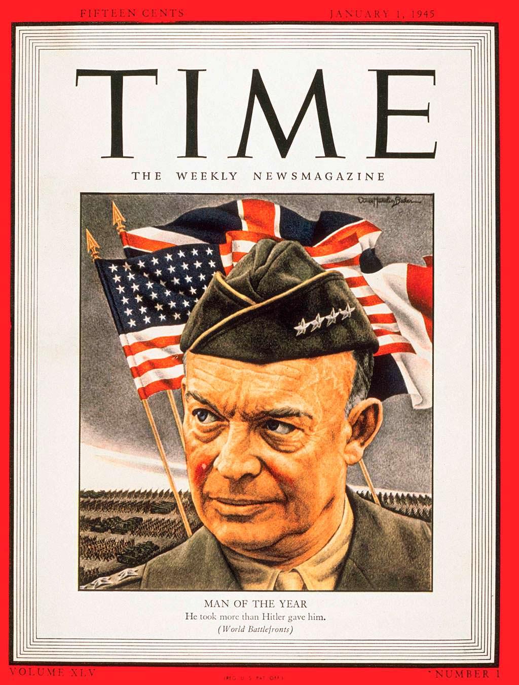 1944 год. Генерал армии США Дуайт Эйзенхауэр на обложке Time